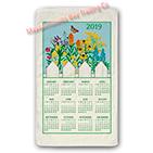 2019 Wildflower Calendar Towel